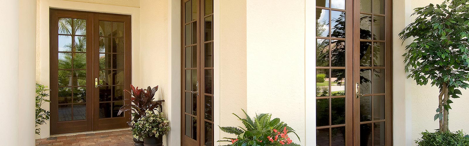 Wood Grain Impact French Doors